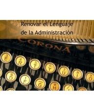 Renovar el lenguaje de la Administración